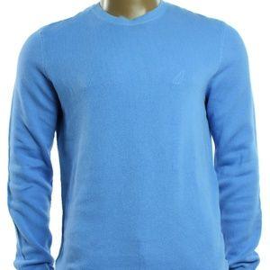 Nautica Mens New Blue Knit Long Sleeve Crewneck